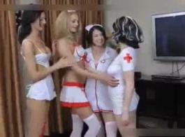 الممرضات السود قرنية يمارس الجنس مع المريض