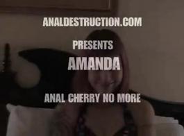 حار أماندا ديفيس يحصل بوسها اصابع الاتهام واللعب الكامل!